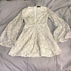Pretty little thing lace mini dress